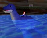 Dorrie in Super Mario 64 (left) and Super Mario 64 DS (right).