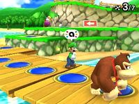 Coin Trio being used from Mario Party: Star Rush