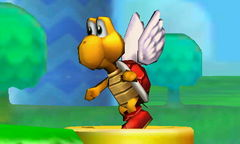 A Koopa Paratroopa in Super Smash Bros. for Nintendo 3DS