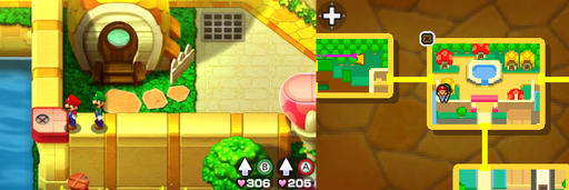 Location of the ninth beanhole in Toad Town.