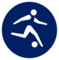 Event icon used for Football in Mario & Sonic at the Olympic Games Tokyo 2020