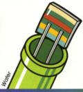 Artwork of a Wafer from the Atari 2600 port of Mario Bros.