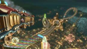 N64 Rainbow Road as it appears in Mario Kart 8