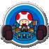 Common badge #148 from Mario Kart Tour