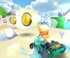 The icon of the Rosalina Cup challenge from the Valentine's Tour and the Monty Mole Cup challenge from the Sydney Tour in Mario Kart Tour