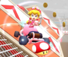 The icon of the Mario Cup challenge from the Los Angeles Tour in Mario Kart Tour.