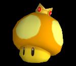Model of a Golden Mushroom from Mario Kart Wii