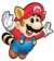 Mario, as shown in the 1990 DiC Entertainment television series, The Adventures of Super Mario Bros. 3