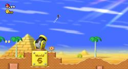 The Warp Cannon of World 2 (New Super Mario Bros. Wii)