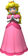 Artwork of Princess Peach from Mario Party 6 (also used in Super Mario 64 DS, Mario Party 7, New Super Mario Bros. and Mario Party DS).