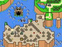 The world Chocolate Island in the game Super Mario World.