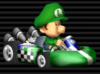 Baby Luigi in the Standard Kart S from Mario Kart Wii