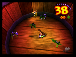 Busy Barrel Barrage in the game Donkey Kong 64.