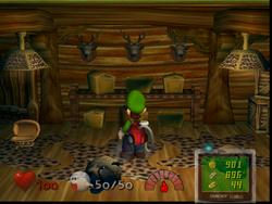 The Safari Room in Luigi's mansion.