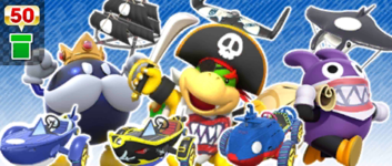 The Pirate Pipe from the Summer Tour in Mario Kart Tour