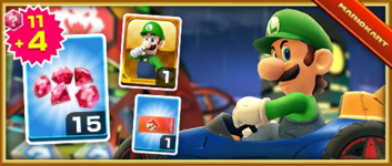 The Luigi Pack New Year's Edition from the New Year's Tour in Mario Kart Tour