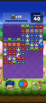 Stage 545 from Dr. Mario World