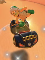 Hammer Bro performing a trick in Mario Kart Tour