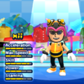 Charmy Bee Mii Costume in the game Mario & Sonic at the London 2012 Olympic Games for the Wii.