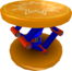 Rendered model of a Trampoline in Super Mario Galaxy.