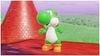 """A screenshot of Yoshi from Super Mario Odyssey, taken via the """"Snapshot Mode""""."""