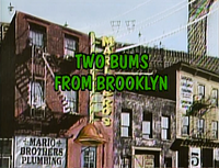 """Title screen of """"Two Bums From Brooklyn"""""""
