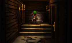 The Under the Stairs segment from Luigi's Mansion: Dark Moon.