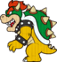 A wooden cutout of Bowser's model from Super Mario 3D World.