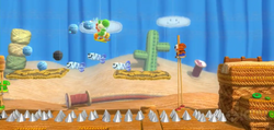 Spiky Stroll from Yoshi's Woolly World.
