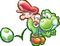 Baby Yoshi and Mario Artwork (alt 2) - Yoshi's New Island.png