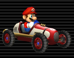 Mario's Classic Dragster from Mario Kart Wii