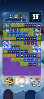 Stage 1166 from Dr. Mario World
