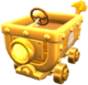 Gold Clanky Kart from Mario Kart Tour.