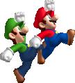 Mario and Luigi jumping NSMB artwork.png