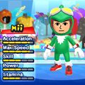 A Jet the Hawk costume for Miis in the Wii version of Mario & Sonic at the London 2012 Olympic Games.