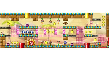 Miiverse screenshot of the 50th official level in the online community of Mario vs. Donkey Kong: Tipping Stars