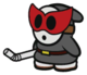 The Shy Bandit sprite from Paper Mario: Color Splash