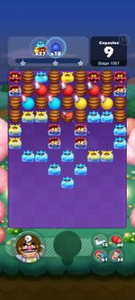 Stage 1057 from Dr. Mario World