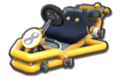 Thumbnail of a yellow Pipe Frame (with 8 icon), in Mario Kart 8.