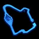 Map of Thwomp Ruins in Mario Kart 8.