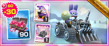 The Black Dozer Pack from the 2021 Trick Tour in Mario Kart Tour