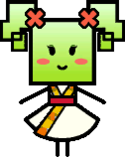 A game sprite of Mimi with her outfit from Chapter 6