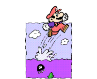 Mario jumping out of water from Super Mario Bros. Print World