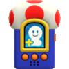 Mario using a Buddy Phone