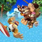 Preview for a Play Nintendo opinion poll on which pair of Kongs to play as in the Nintendo Switch version of Donkey Kong Country: Tropical Freeze. Original filename: <tt>1x1_DKCTFSwitchPoll1_v01.a25bebd1.jpg</tt>