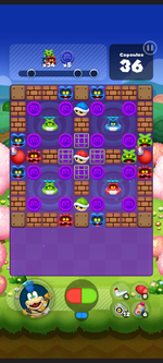 Stage 547 from Dr. Mario World