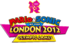 English logo for Mario & Sonic at the London 2012 Olympic Games, for use on white backgrounds