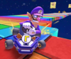 The icon of the Baby Mario Cup challenge from the Mario Bros. Tour and the Lemmy Cup challenge from the Kamek Tour in Mario Kart Tour.