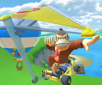 The icon of the Fire Bro Cup challenge from the Sunset Tour in Mario Kart Tour