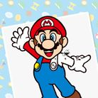 Thumbnail of a paint-by-number activity with Mario
